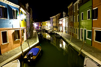 Burano at Night, Venice, Italy